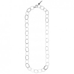 ALTERNATING OVAL LINKS Halskette aus 925er Silber. Länge: 92 cm