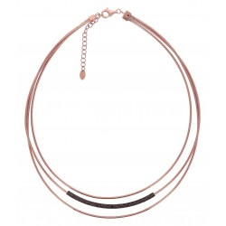 Collier DNA Argent 925, plaqué or rose