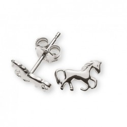 Clous d'oreilles cheval, or gris 750