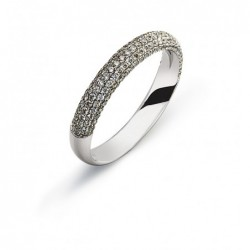 Bague or gris 750 avec 149 brillants H SI 0.69ct.