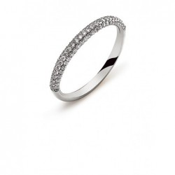 Bague or gris 750 avec 79 brillants H SI 0.39ct.