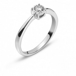 Bague solitaire or gris 750 H SI 0.20ct.