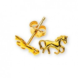 Clous d'oreilles cheval or jaune 375