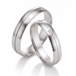 Alliances or blanc 750 / 18 ct.