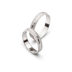 Alliances or blanc 750/18 ct. diamantée env. 4.0mm