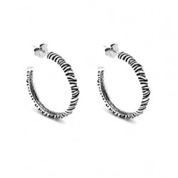Créoles STRING EARRINGS en argent 925, 3.5 cm