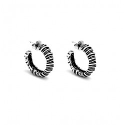 STRING EARRINGS OHRRINGE aus 925 Silber, 2.7 cm