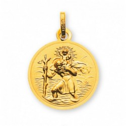Médaille or jaune 750 St. Christophe 14mm