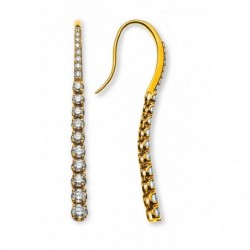 Pendants d'oreilles, or jaune 750 avec 36 brillants H SI 1.17ct.