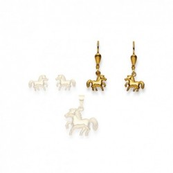Pendants d'oreilles Cheval, or 750